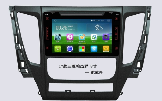 8 Inch Mitsubishi Car DVD 1080P Hd And 3D Background RAM1G DDR3 , Android Car Head Unit